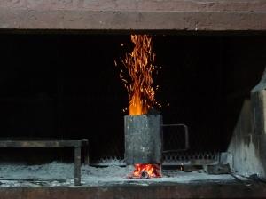Kohle einheizen