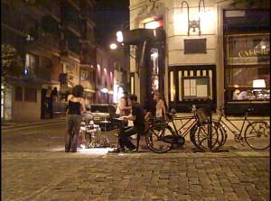 Open-Air Jazz  beim Café Rivas