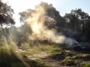 Traditionelle Kohleherstellung