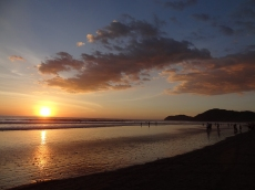Sonnenuntergang in Jacó