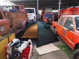Campen bei den Bomberos in Santiago