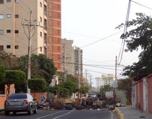 Strassebbarrikaden in Maracaibo