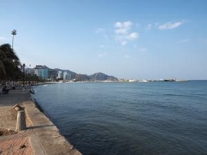 Nicht sehr spektakulär, die Bahia von Santa Marta