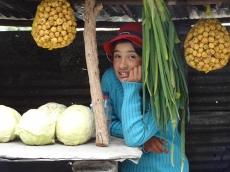 Nereida verkauft Gemüse