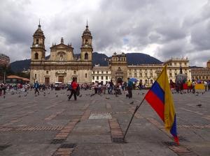 Die Plaza Bolívar von Bogotá