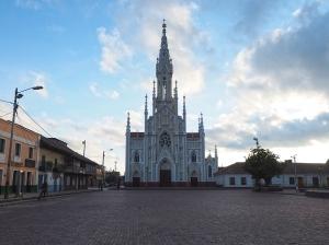 Die Catedral von Ubaté am frühen Morgen