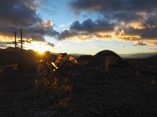 Sonnenuntergang im Strassencamp