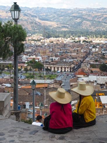 Die Aussicht auf Cajamarca