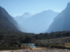 Die Quebrada Llanganuco am frühen Morgen