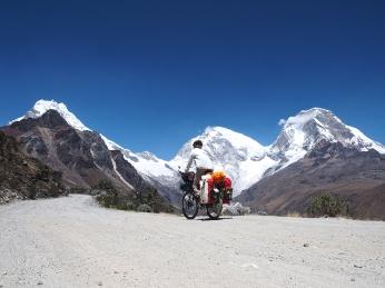 Noch mehr Andenpanorama: Chopicalqui, Huascaran Sur und Norte