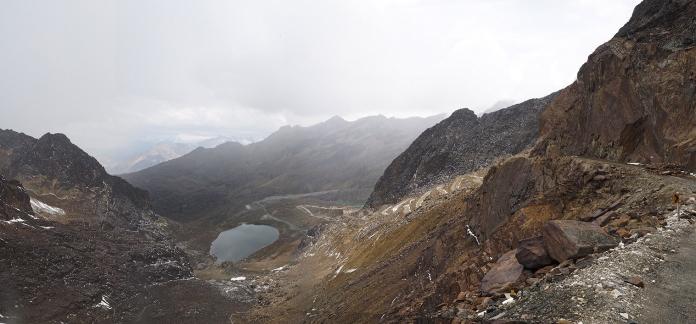 Blick von der Punta Olimpica in Richtung Chacas