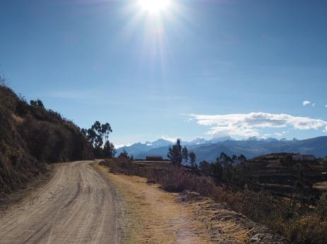 ein perfekter Tagesstart mit Blick auf die Cordillera Huayhuash
