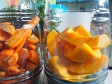 Karotten und Papaya