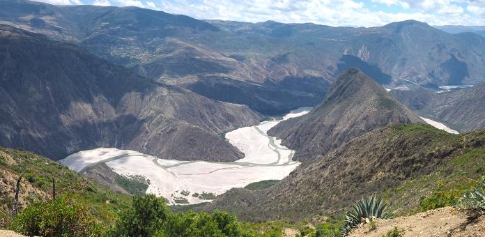 Coole Aussicht ins Tal des Rio Pampas