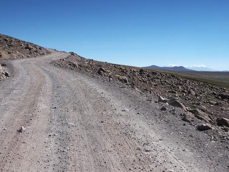 Aufstieg mit Nevado-Fernsicht
