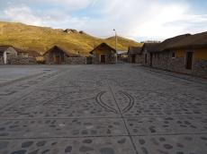 Die Plaza mit schönem Steinboden