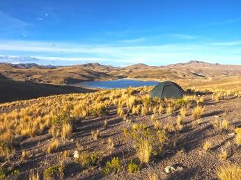 Mein heutiger Campplatz mit Ausblick