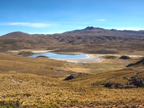 Auf dem Weg zum Abra Mañazo, Lagunen...