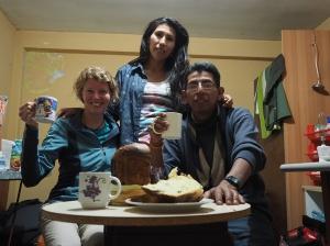 Mit Geovanni und Niza beim vorweihnachtlichen Panettone-Essen