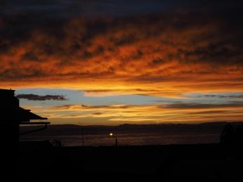Der Sonnenuntergang vom Hostal aus. Wow!!!!
