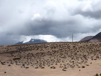 Von den Vulkanen sieht man nicht viel