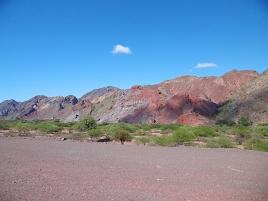 Farbige Sandsteinfelsen