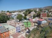 Farbige Häuser. Adios Valpo!
