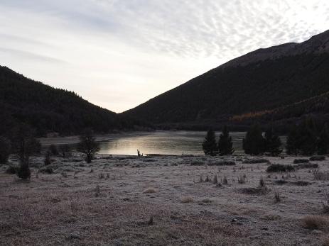 Die gefrorene Laguna Chiguay