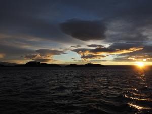 Sonnenaufgang. Leider habe ich den spektakulären Himmel gerade verpasst.