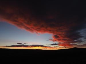 Kurz vor Sonnenaufgang Abfahrt in Tamel Aike