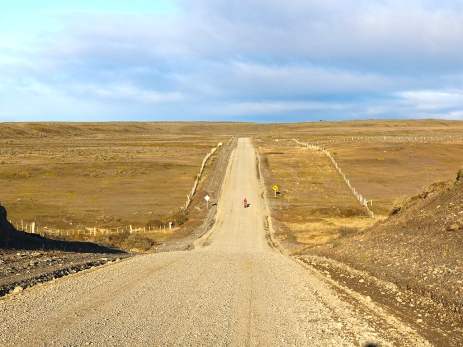 Ein kleiner Punkt in der weiten Pampa