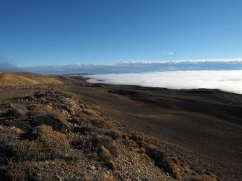 Unter mir liegt das Nebelmeer.