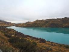 Der Lago Pehoé wird zum Rio Paine