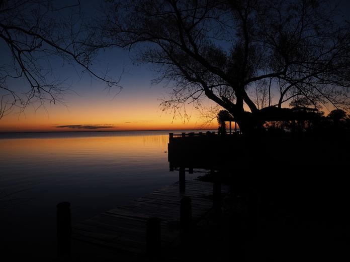 Mein erster Sonnenuntergang bei der Laguna Iberá