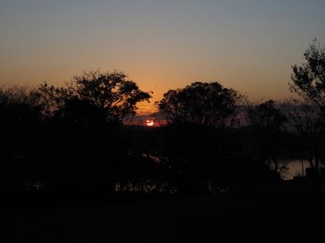 Sonnenaufgang beim Rio Uruguay