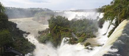 Wasserfälle und Inseln