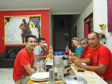 Das Bankett-Dinner bei den Bombeiros in Maracaju