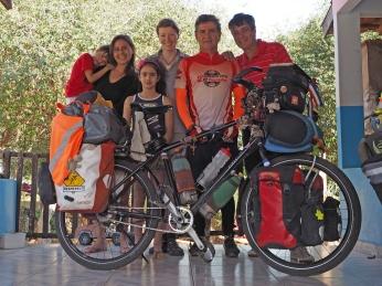 Mit João, Kelly, Fernanda, Rene und Antonio ind Guia Lopes da Laguna