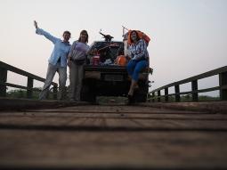 Brückenimbiss mit Margie und Ana