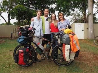 Mit Margie und ihrer Familie