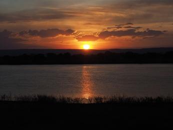 Sonnenuntergang beim Rio Rio Sao Francisco