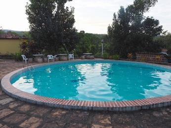 Ein Pool sorgt für Erfrischung