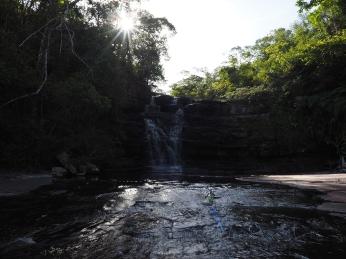 Das letzte Bad des Tages in der Cachoeira das Autinas