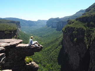 Beim Cachoeirão 300 m hoch über dem Vale do Pati