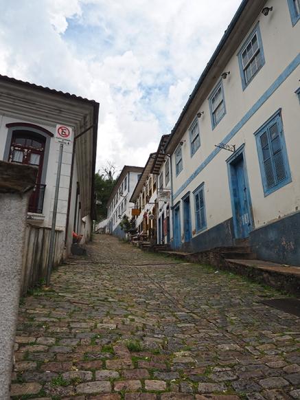 Die Gassen sind steil in Ouro Preto