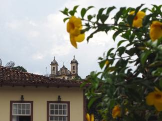 Blumen und Kirchen
