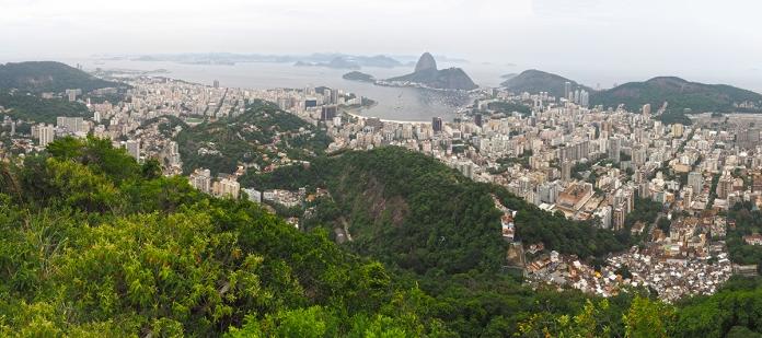 Die beeindruckende Aussicht vom Cristo auf Rio