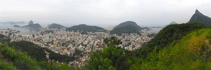 Blick auf Rio vom Mirante Dona Marta