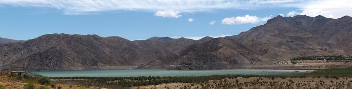 Die Embalse Puclaro auf dem Weg nach Vicuña
