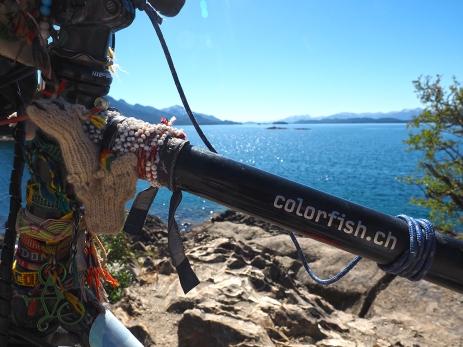 Mit Fish beim Lago Nahuel Huapi
